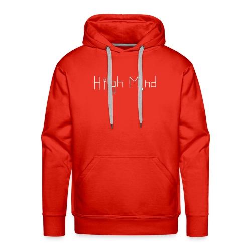 HIGH MIND ORIGINAL WHITE BLACK - Men's Premium Hoodie