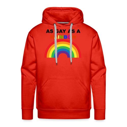 AS GAY AS A RAINBOW - Men's Premium Hoodie