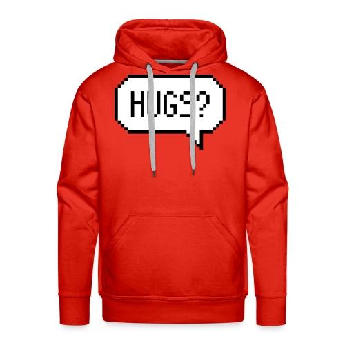 Hugs Pixelart Speech Bubble - Men's Premium Hoodie