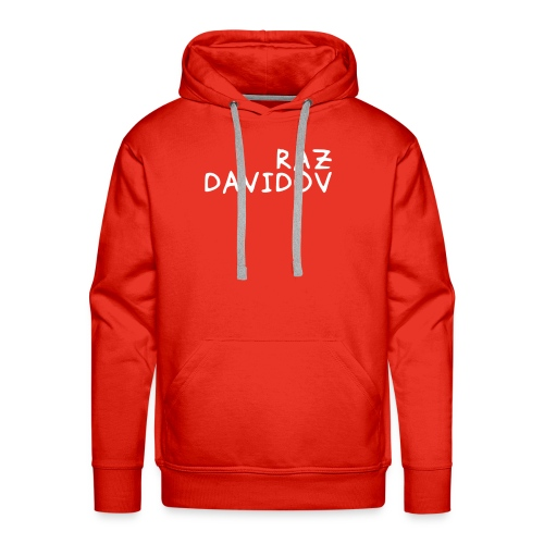 Raz Davidov Text - Men's Premium Hoodie