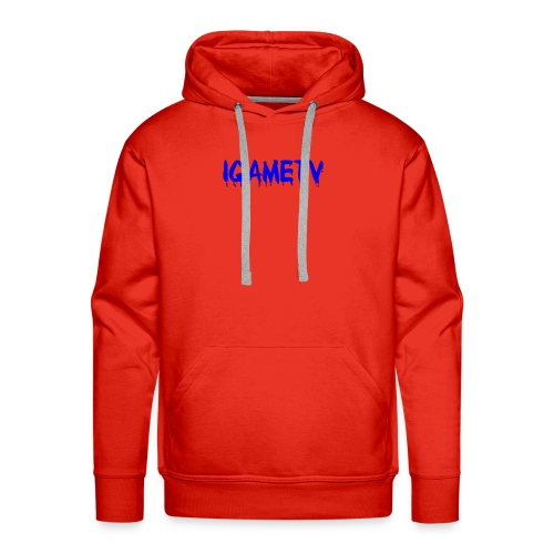 IGAME TV BLUE EDITION - Men's Premium Hoodie