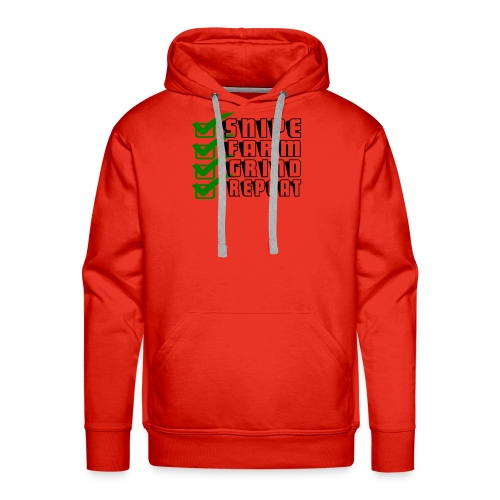snipe farm grind repeat - Men's Premium Hoodie