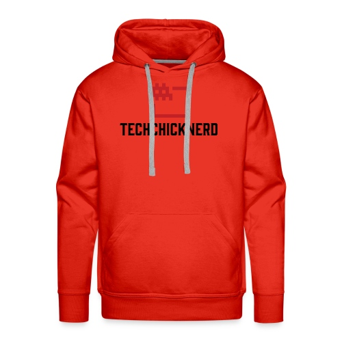TechChick-Nerd logo #1 - Men's Premium Hoodie