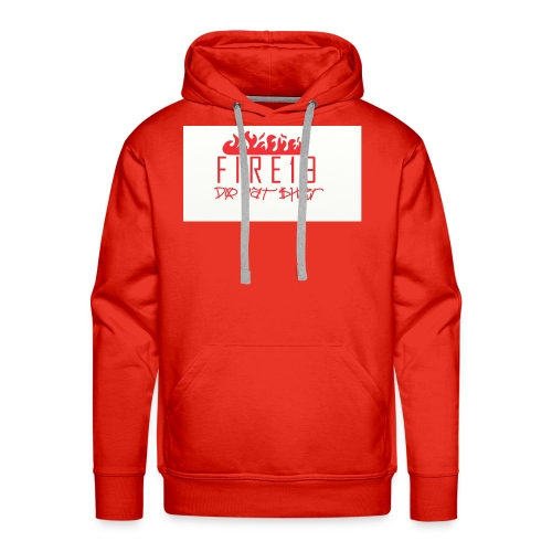 FIRE19 Red and White - Men's Premium Hoodie
