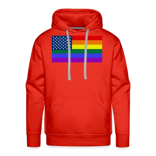 LGBT United States Flag - Men's Premium Hoodie