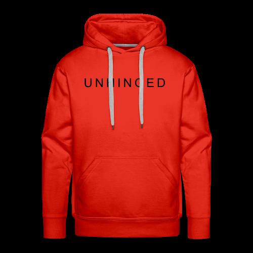 Unhinged Text Design BLACK - Men's Premium Hoodie