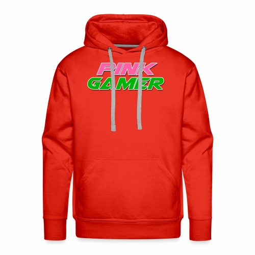 PINK Gamer Logo: Light Outline - Men's Premium Hoodie