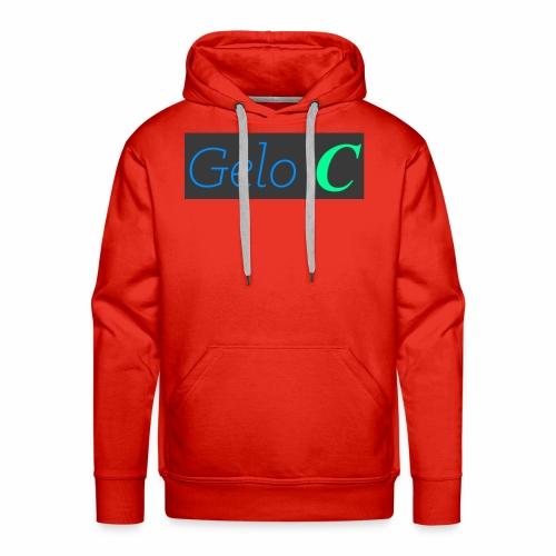 GeloC Rectangle Gray Logo - Men's Premium Hoodie