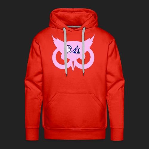 RG Pink Owl Logo - Men's Premium Hoodie