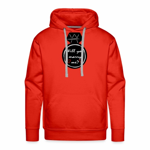 Will you marry me? Proposal Shirt - Men's Premium Hoodie