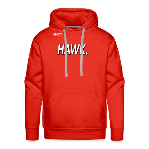 GRAViiTY Hawk (White Print) - Men's Premium Hoodie