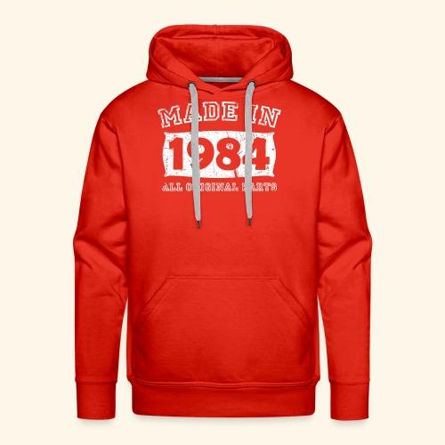 made in 1984 birth day all original parts - Men's Premium Hoodie