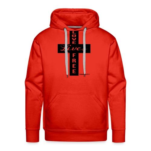 LLF Cross Tee - Men's Premium Hoodie