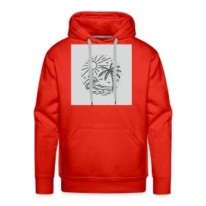 Palm tree clear wave tshirt - Men's Premium Hoodie