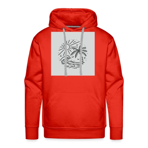 Palm tree clear wave tshirt - Men's Premium Hoodie