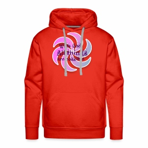 With god all things are possible - Men's Premium Hoodie