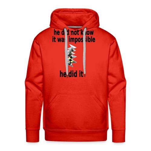 t shirt impossible and makes man rip breach FC - Men's Premium Hoodie