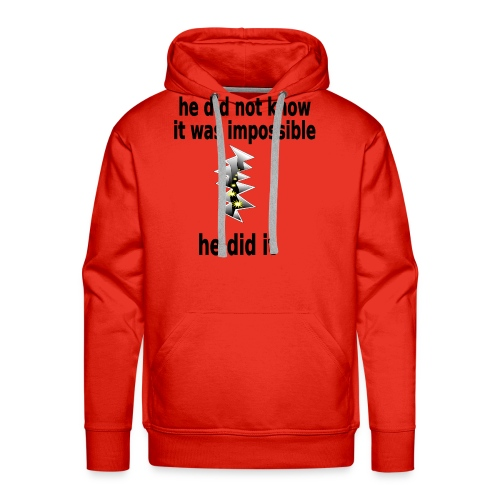t shirt impossible and makes man rip breach FC - Men's Premium Hoodie