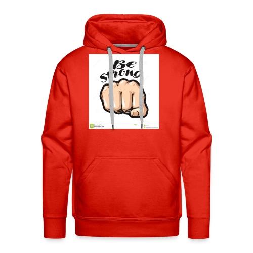 fist cartoon symbol be strong lettering vector ill - Men's Premium Hoodie