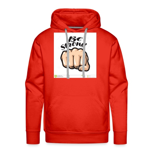 fist cartoon symbol be strong lettering vector ill - Men's Premium Hoodie