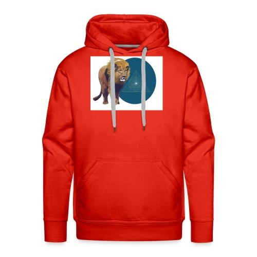 Lion with Tetraeder - Men's Premium Hoodie