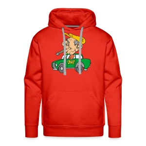 Old cab/Taxi driver enjoying Cigar - Men's Premium Hoodie