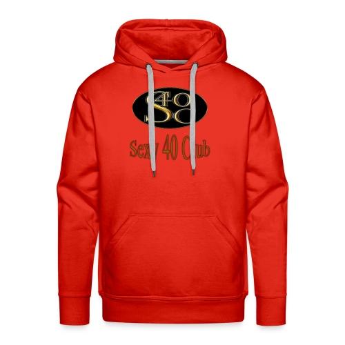 s40c logo trans - Men's Premium Hoodie