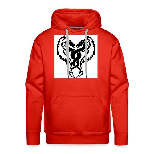 Black And White Dragon Tattoo Designs - Men's Premium Hoodie