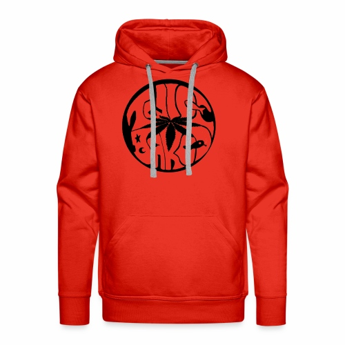 tWicEbakED logo, black circle - Men's Premium Hoodie