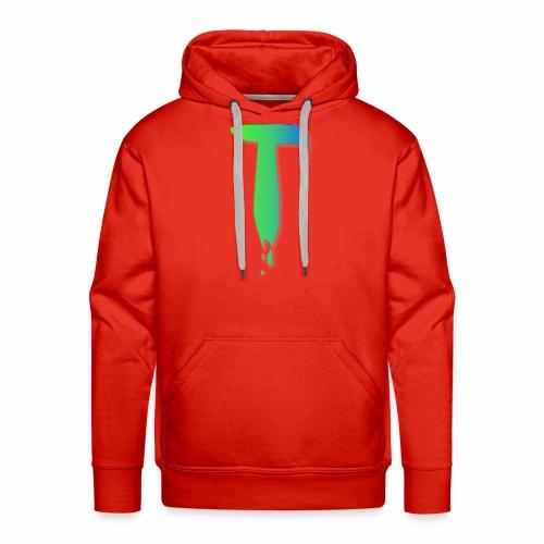 Colored Tlicker Logo - Men's Premium Hoodie