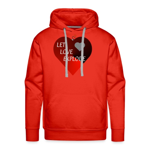 Let Love Explode Heart - Men's Premium Hoodie
