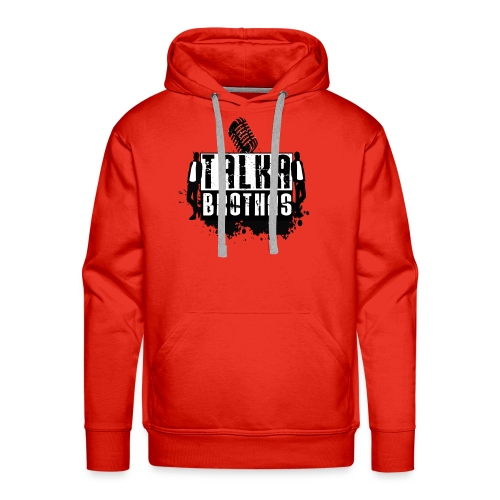 Talka Brothas Splash Logo - Men's Premium Hoodie