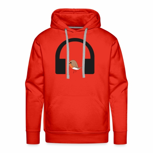 bird listen to music - Men's Premium Hoodie
