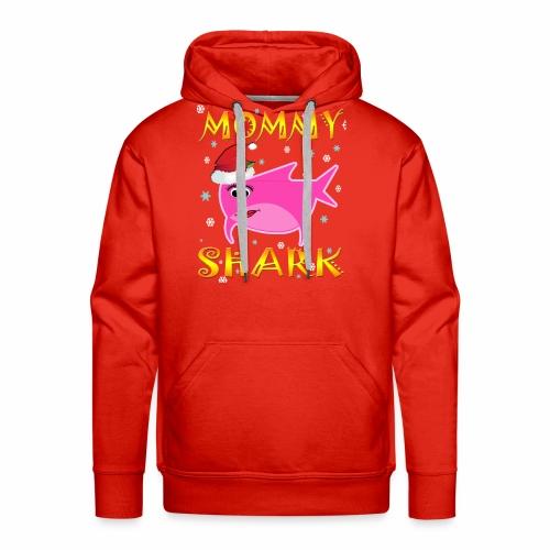Mommy Shark Christmas Design Gift Idea - Men's Premium Hoodie
