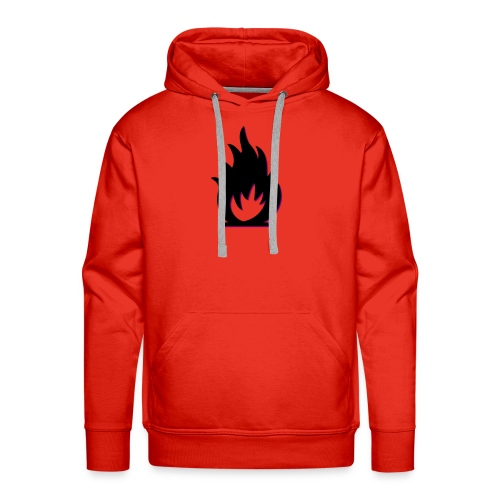 cute fire symbol - Men's Premium Hoodie