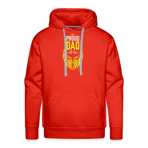 I am a proud dad t shirt gift for super dad father - Men's Premium Hoodie