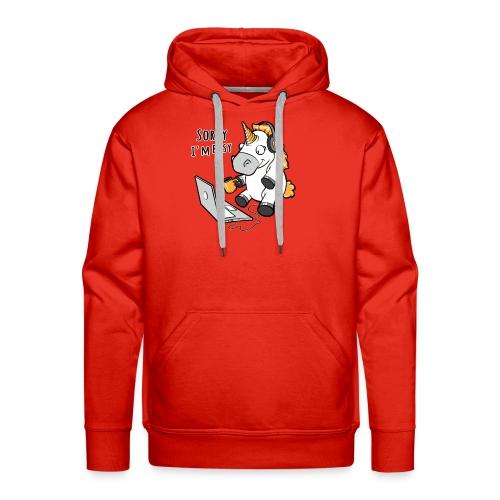 Sorry i'm busy, funny unicorn, music T Shirt - Men's Premium Hoodie