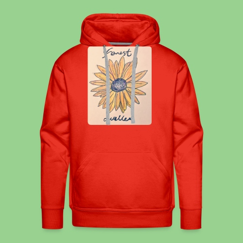 forest dweller Flower - Men's Premium Hoodie