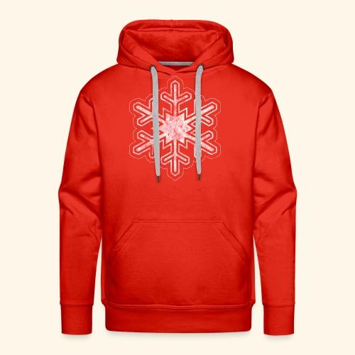 Grunge Christmas Snowflake - Men's Premium Hoodie