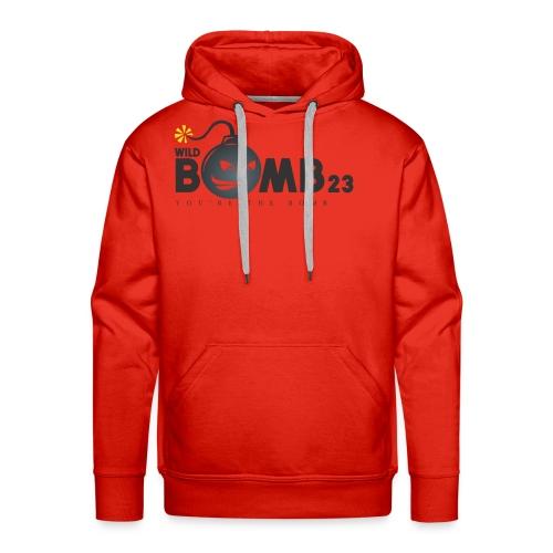 WildBomb23 Black Logo - Men's Premium Hoodie