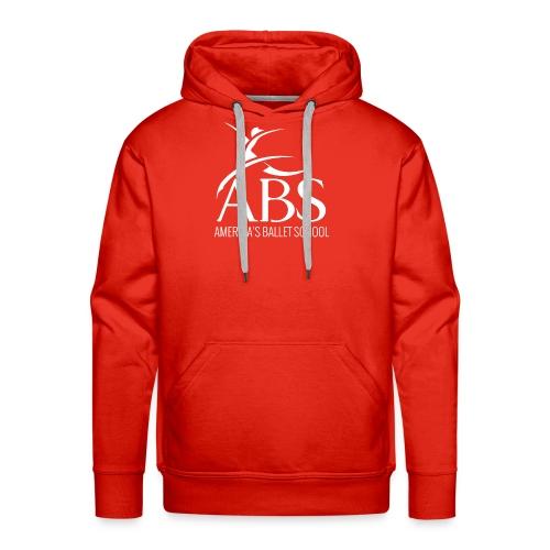 White ABS Logo Collection - Men's Premium Hoodie