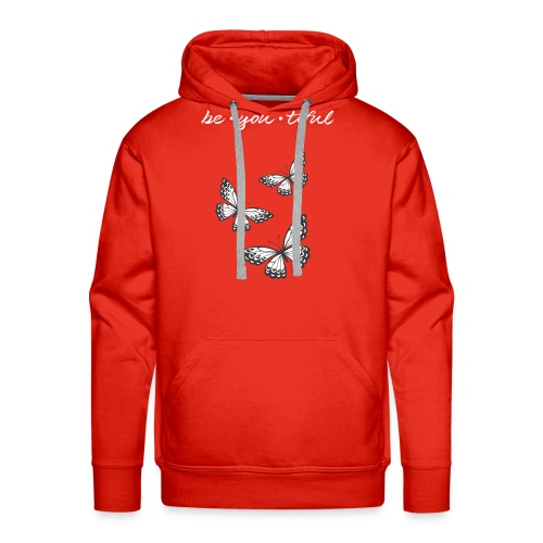 Be • You • Tiful Tank (Grey Tip Wings)-white font - Men's Premium Hoodie