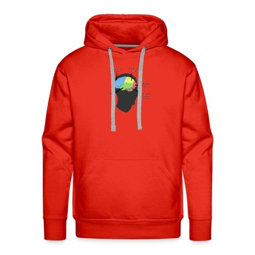Corbin YT brain diagram - Men's Premium Hoodie