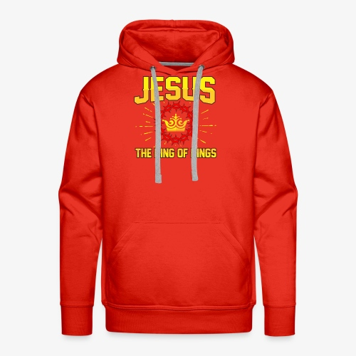Jesus The king of kings religious shirt - Men's Premium Hoodie