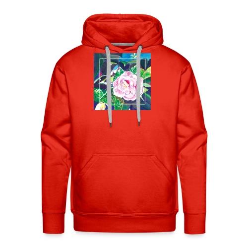 Camellia Watercolor - Men's Premium Hoodie