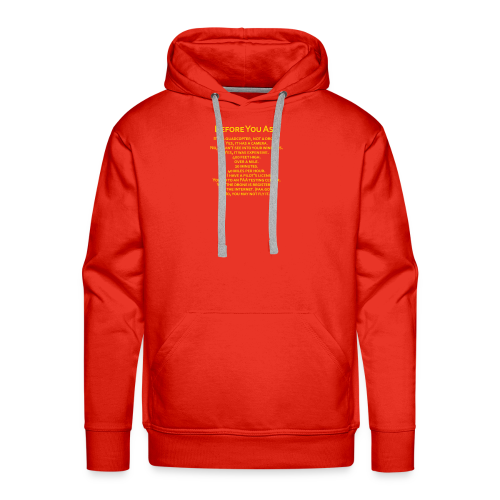 tshirt_pilotVersion_nologo_gold - Men's Premium Hoodie
