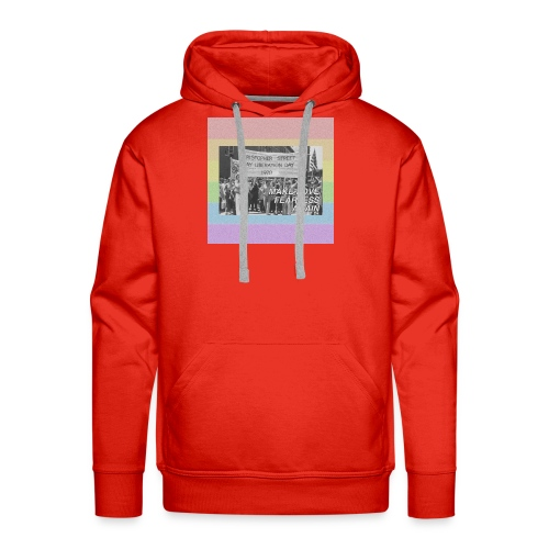 make love fearless again pins - Men's Premium Hoodie