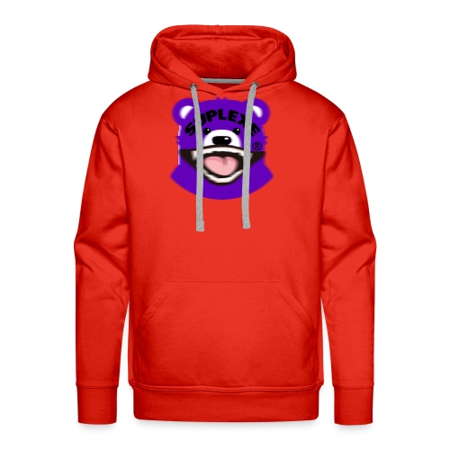 PURPLE {BLUR} BE@R x BADGER TEE - Men's Premium Hoodie
