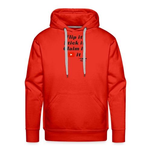 Flip it t-shirt black letting youtube logo - Men's Premium Hoodie
