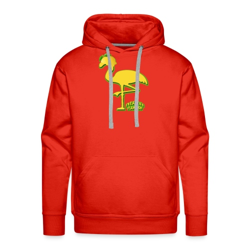 Fruit Flamingo Neon—Lemon - Men's Premium Hoodie